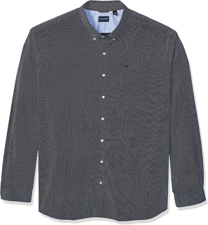 dockers Big and Tall Long Sleeve Button Down Comfort Flex Shirt Camisa con Cuello Abotonado para Hombre
