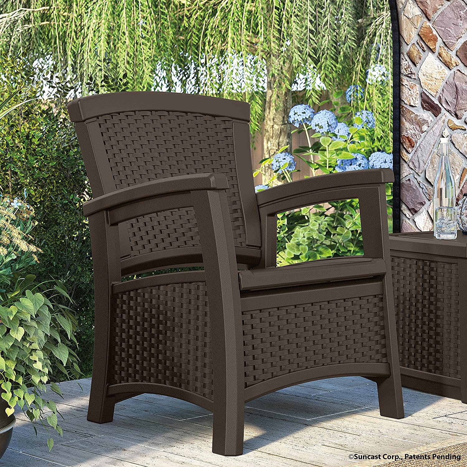 Amazon Suncast ELEMENTS Club Chair with Storage Java