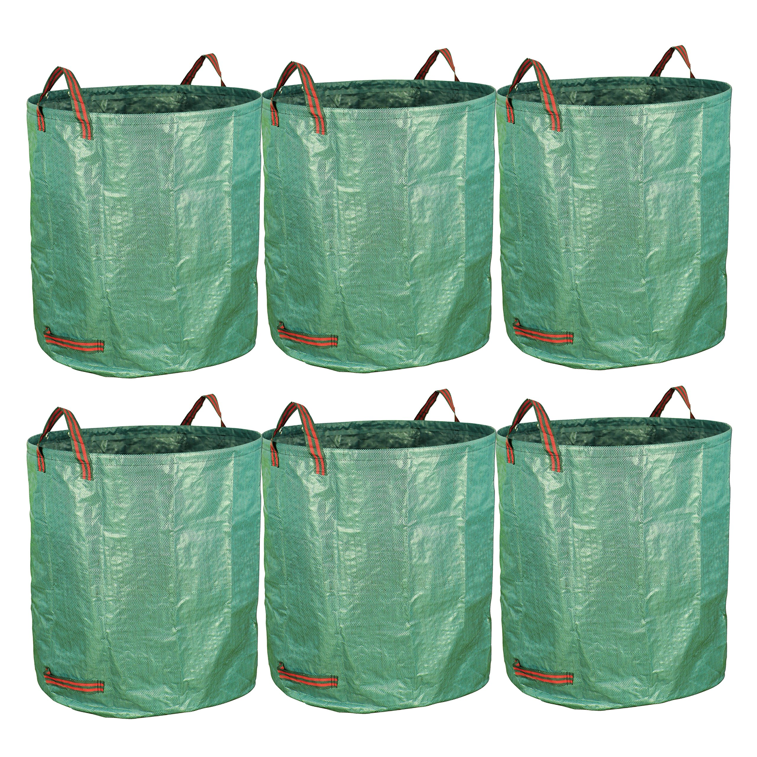 gardzen 6-Pack 72 Gallon Bags - Reuseable Heavy Duty Gardening Bags, Lawn Pool Garden Leaf Waste Bag by gardzen