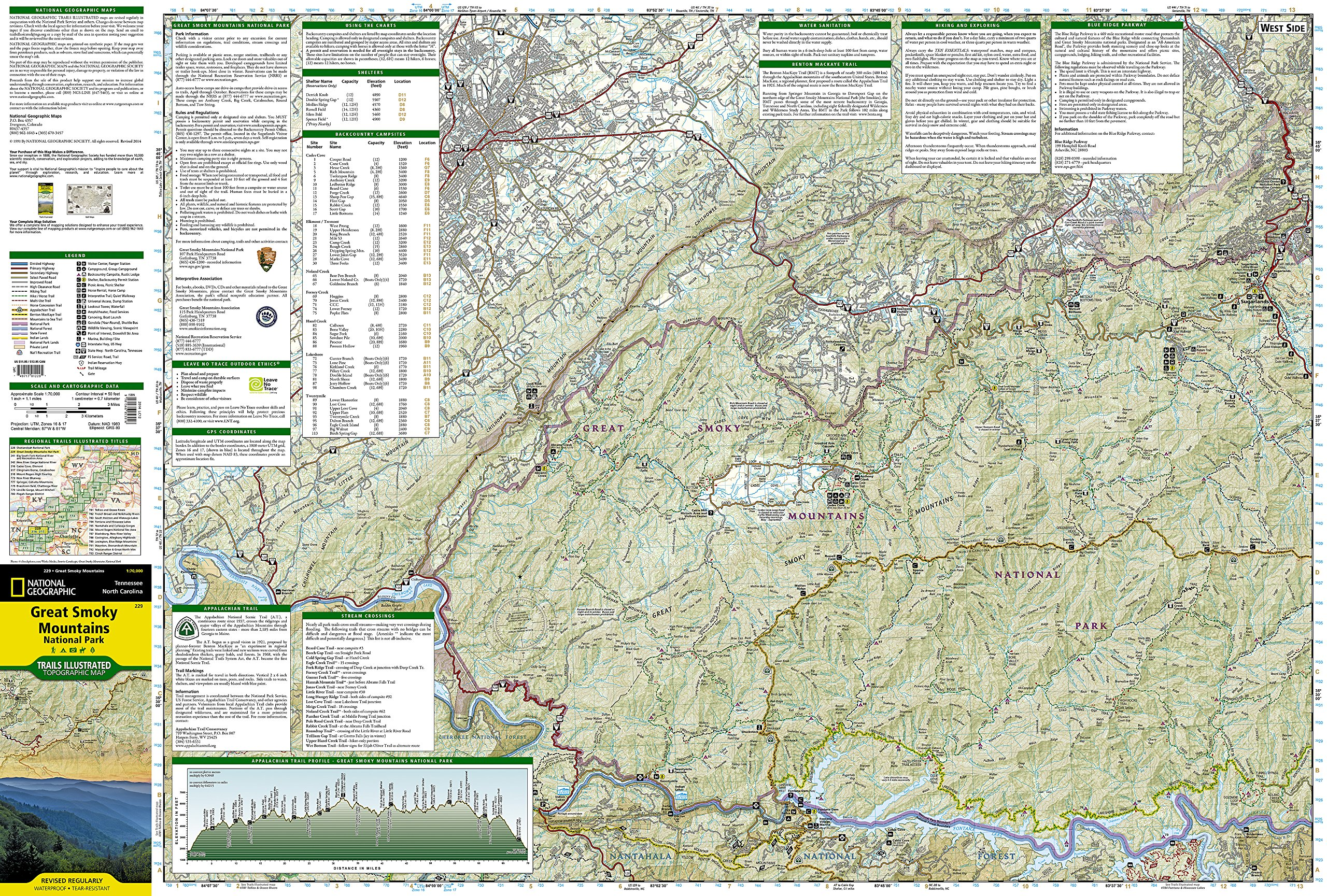 great smoky mountains national park (national geographic trails illustratedmap) national geographic maps  trails illustrated amazoncom . great smoky mountains national park (national geographic trails