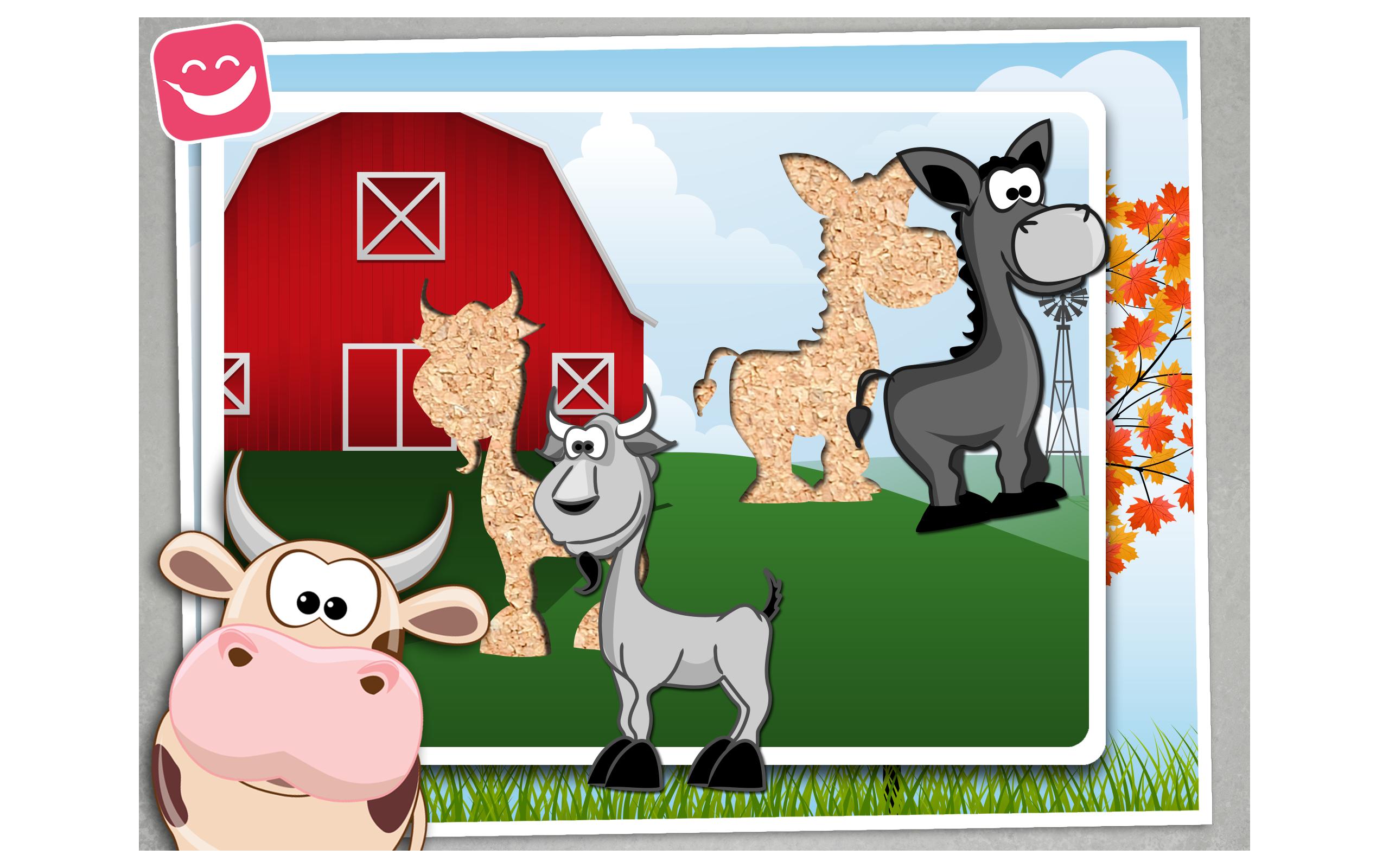 Puzzle gratuito de animales de granja para los ni os y - Puzzles para ninos pequenos ...