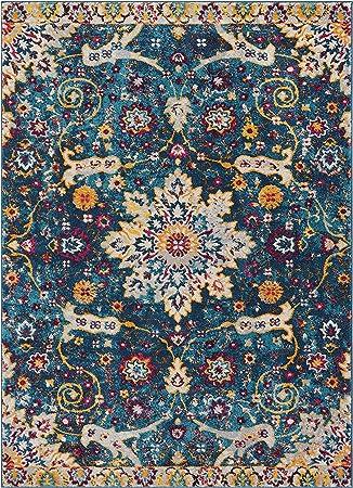 Well Woven Laurent Wonderly Modern Vintage Oriental Blue 7 10 X 9 10 Area Rug Furniture Decor