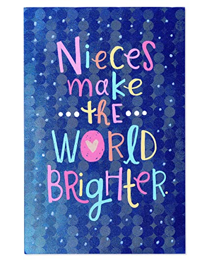 Amazon american greetings brighter birthday card for niece american greetings brighter birthday card for niece with glitter m4hsunfo
