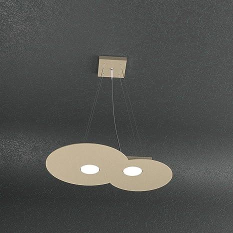 LAMPADARIO SOSPENSIONE MODERNO 2 LUCI TOP LIGHT CLOUD SABBIA 1128/S2 ...