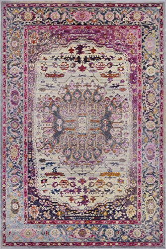 Pierre Cardin Cosmos Collection Oriental Traditional/Vintage Design Abstract Area Rug