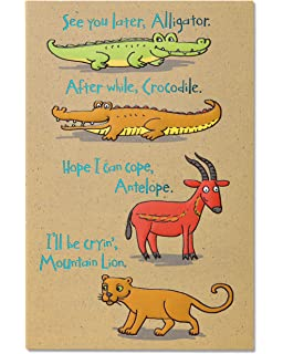 Amazon american greetings funny animals goodbye american greetings funny animals goodbye and good luck congratulations card with foil m4hsunfo