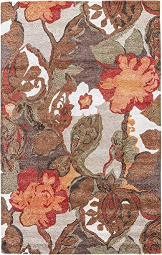 Jaipur Living Petal Pusher Hand-Tufted Floral Leaves Brown Area Rug 9 X 12