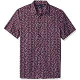 Perry Ellis Camisa de Manga Corta con Estampado Floral para Hombre