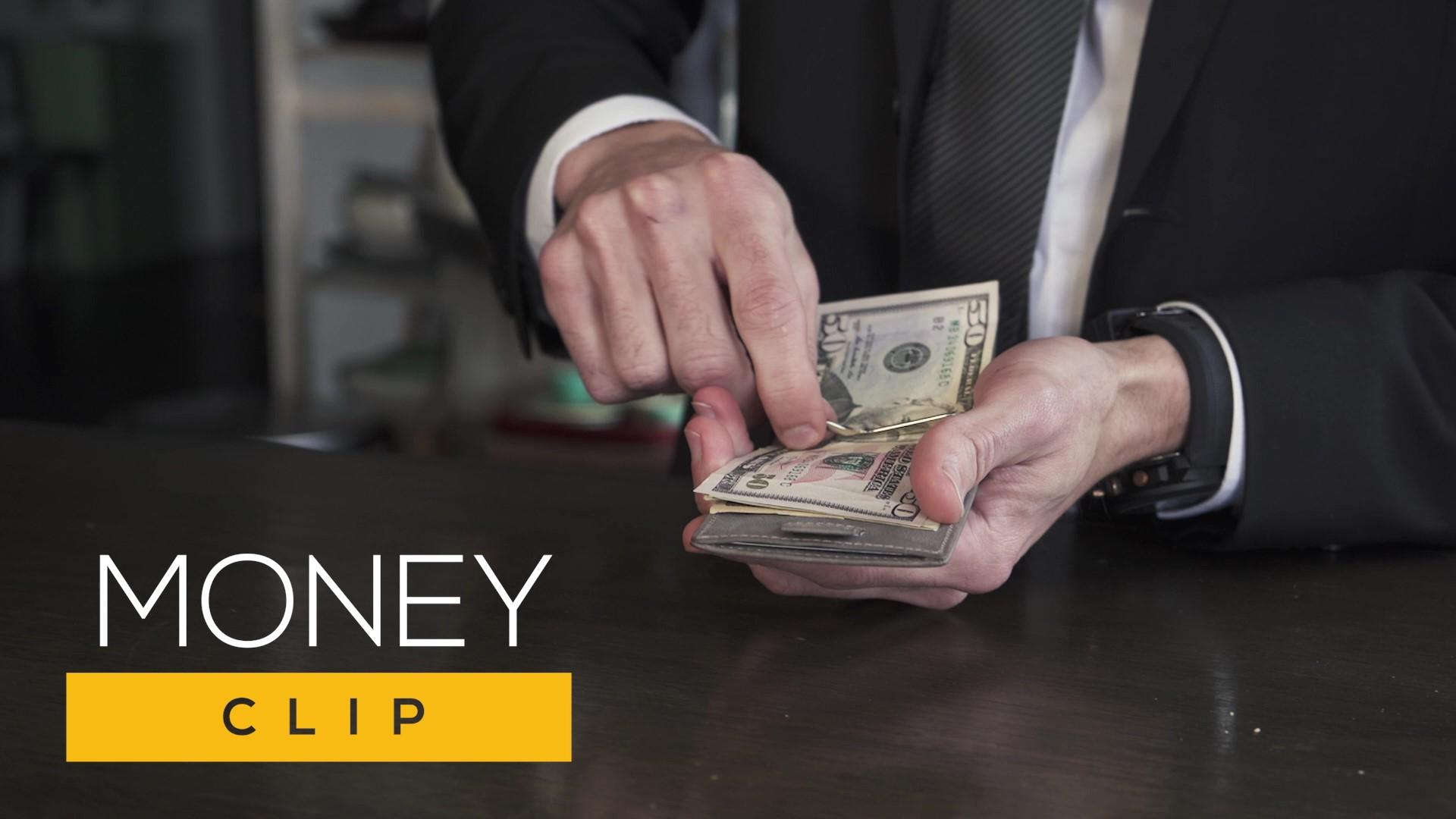 SERMAN BRANDS RFID Blocking Slim Bifold Genuine Leather Minimalist Front Pocket Wallets for Men with Money Clip Thin… 7
