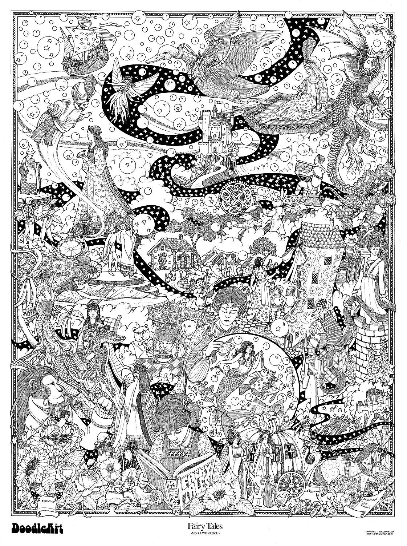 Amazon.com: The Original DoodleArt by PlaSmart - Fairy Tales, Adult ...