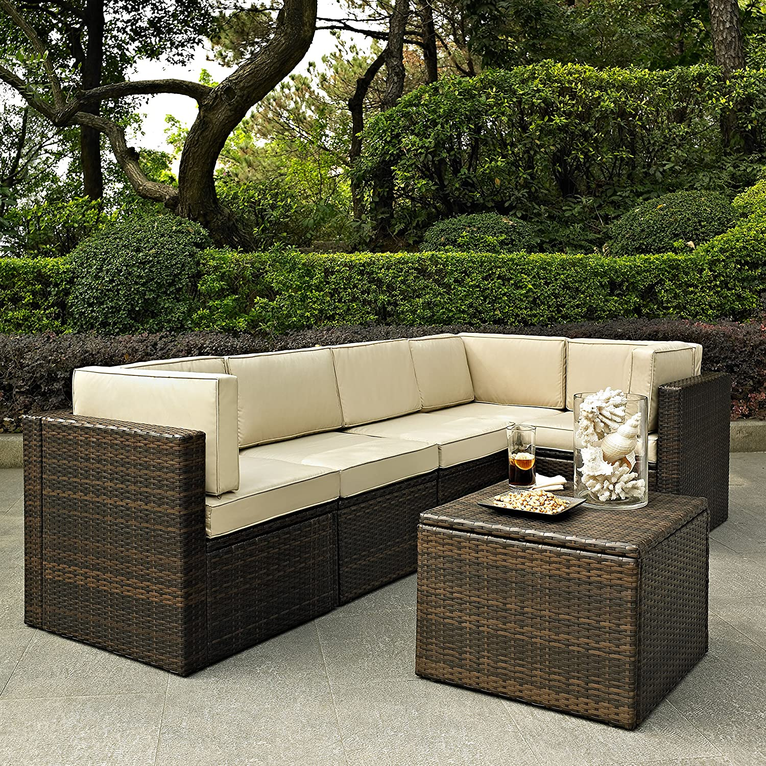Amazon Crosley Furniture Palm Harbor 6 Piece Outdoor Wicker