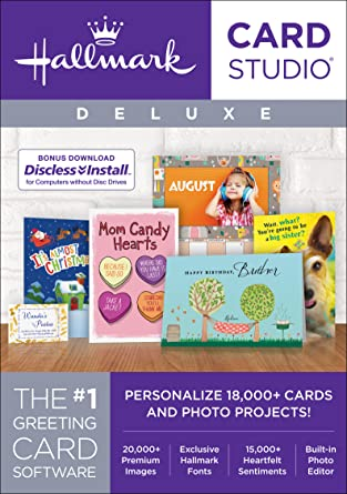 Amazon hallmark card studio deluxe 2018 download software hallmark card studio deluxe 2018 download m4hsunfo