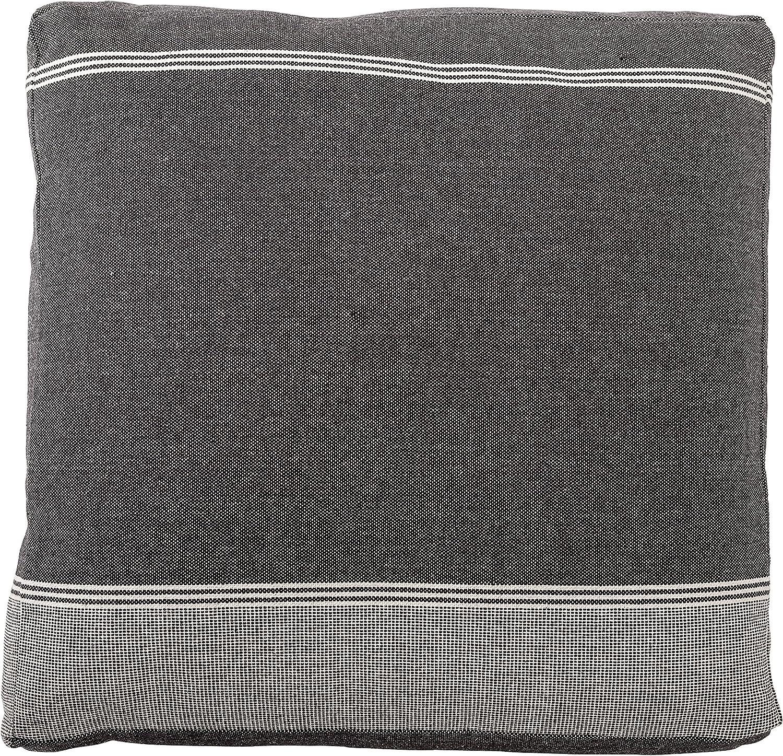 Bloomingville Black Square Cotton Woven Floor Cushion 24
