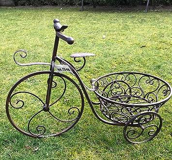 Gartendeko Metall moritz pflanzfahrrad blumentopfhalter pflanzkorb 55 x 37 x 27 5 cm
