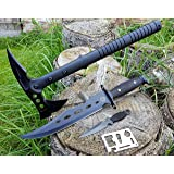 "*4er Set* Tomahawk tactical Hawk Tomahawk Kommando Typ M48 SWAT/FBI Axt-Beil-Messer + 36cm CANADA ""Forrest Ranger 3th."" Mega Bowie- Jagd- Outdoor- Survival- Messer incl. Dolch Beimesser incl. 12in1 Survival-Card"