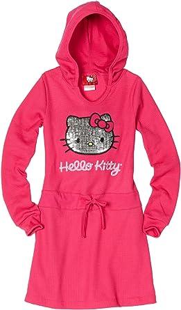 2ab3d617c Hello Kitty Big Girls' Thermal Dress With Mini Sequins, Fuschia Purple, ...