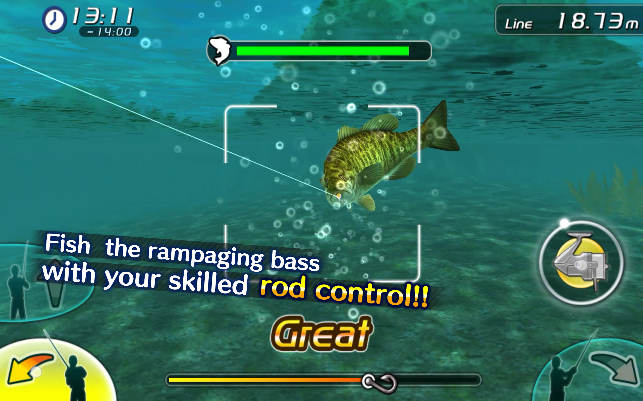 Bass fishing 3d ii appstore for android for Bass fishing 3d