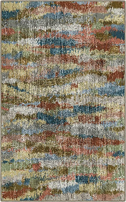 "Brumlow Mills Rustic Earthtones Vintage Abstract Area Rug, 2'6"" x 3'10"","