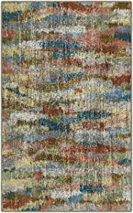 "Brumlow Mills EW10129-40x60 Rustic Earthtones Vintage Abstract Area Rug, 3'4"" x 5"