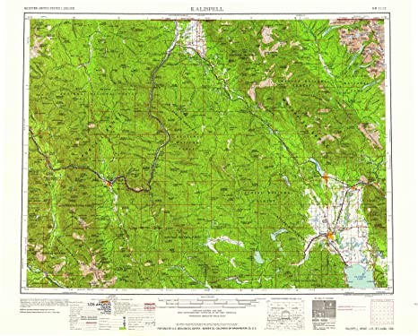 Amazon Com Yellowmaps Kalispell Mt Topo Map 1 250000 Scale 1 X 2