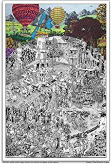 Amazon.com: Port Obello Giant Coloring Poster by Littlehorn ...