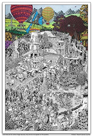 Amazon.com: Wildergorn Color In Poster - Potters\' Road - GIANT ...
