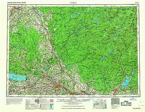 Amazon Com Utica Ny Topo Map 1 250000 Scale 1 X 2 Degree