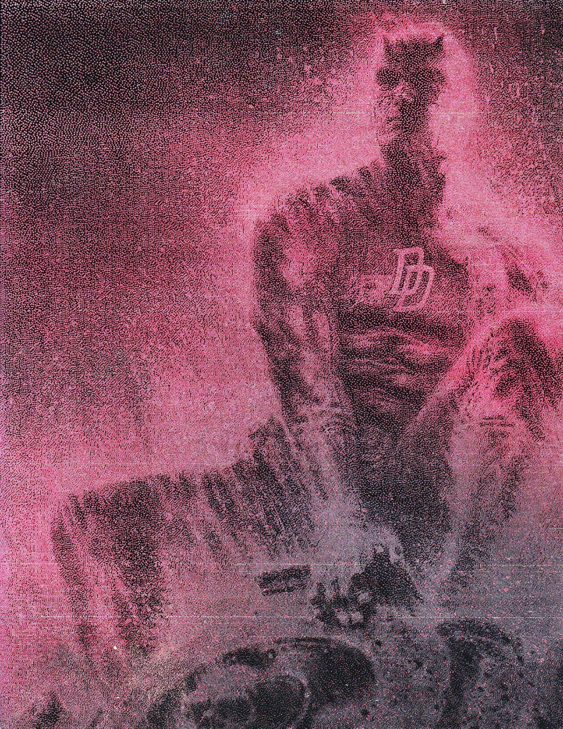 Daredevil Gargoyle Matt Murdock Metal Poster Spray Paint Art by Art of Steel