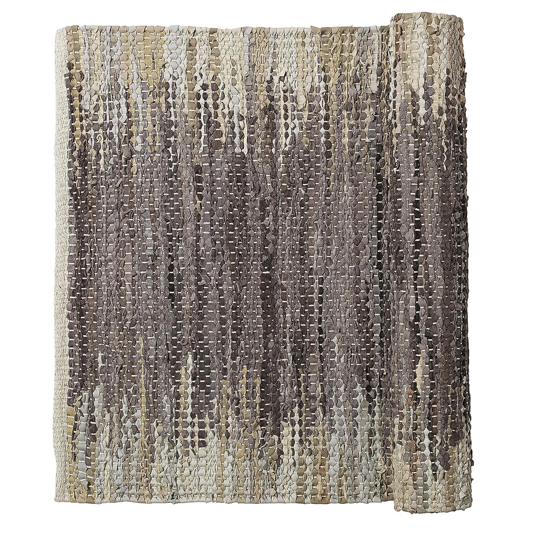 Weave Natur Braun Beige gewebt Leder Baumwolle Läufer Teppich 80 x 250