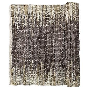 Baumwoll Teppich Gewebt amazon de weave natur braun beige gewebt leder baumwolle läufer