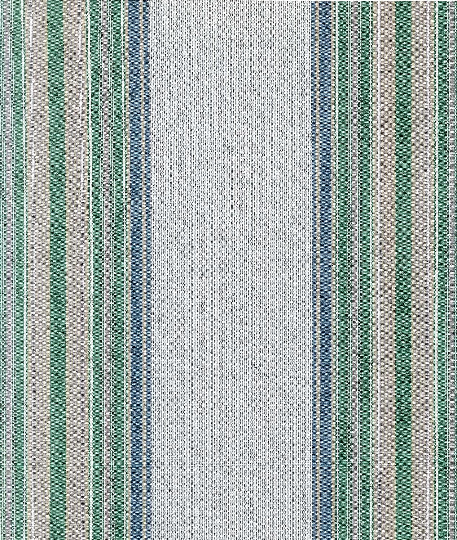 Tenda da Sole con Kit Ganci e Anelli in Tessuto Multirighe Resistente da Esterno o Balcone Misura cm 140x250 Dis.6 Colore Verde