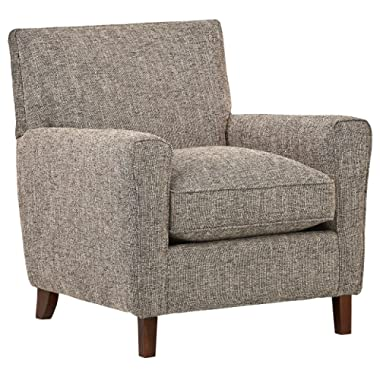 Rivet Lawson Modern Angled Chair, 33 W, Blackwood