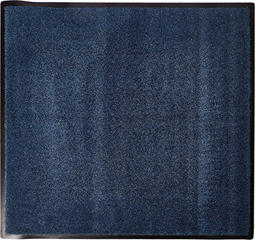 Hudson Exchange Summer Mat Square Door Mat, Vinyl Backing, 3 L x 3 W, Academy Blue