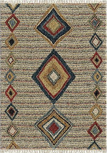 Orian Rugs Bedouin Collection 5006 Tribal Door Area Rug with Fringe, 9 x 13 , Multicolor