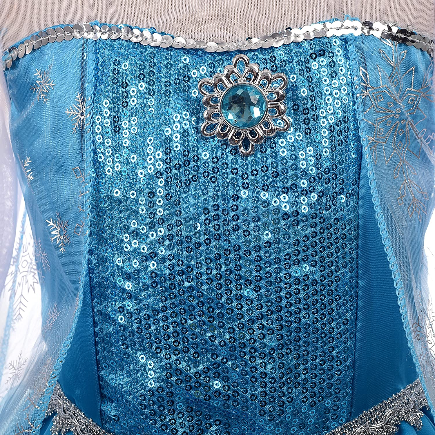 Lito Angels Girls Princess Elsa Dress Up Costumes Snow Queen Dress Halloween Costume with Accessories