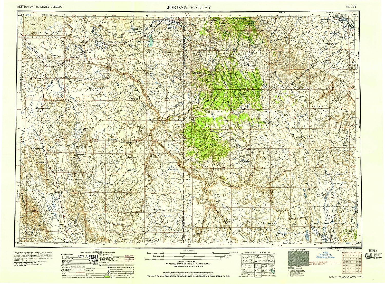Amazon Com Yellowmaps Jordan Valley Or Topo Map 1 250000 Scale 1