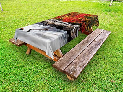 Amazoncom Ambesonne Driftwood Outdoor Tablecloth A Raft Of - Picnic table raft