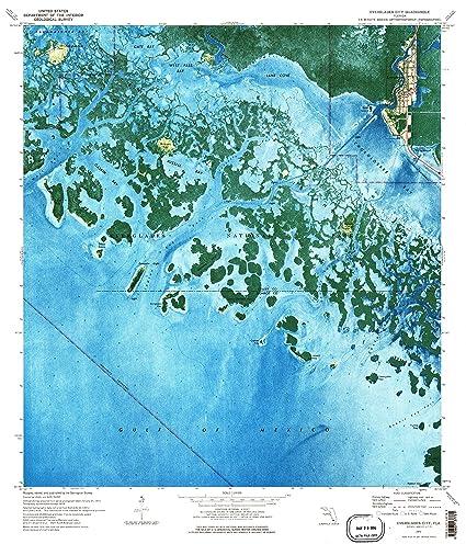 Topo Map Florida.Amazon Com Yellowmaps Everglades City Fl Topo Map 1 24000 Scale