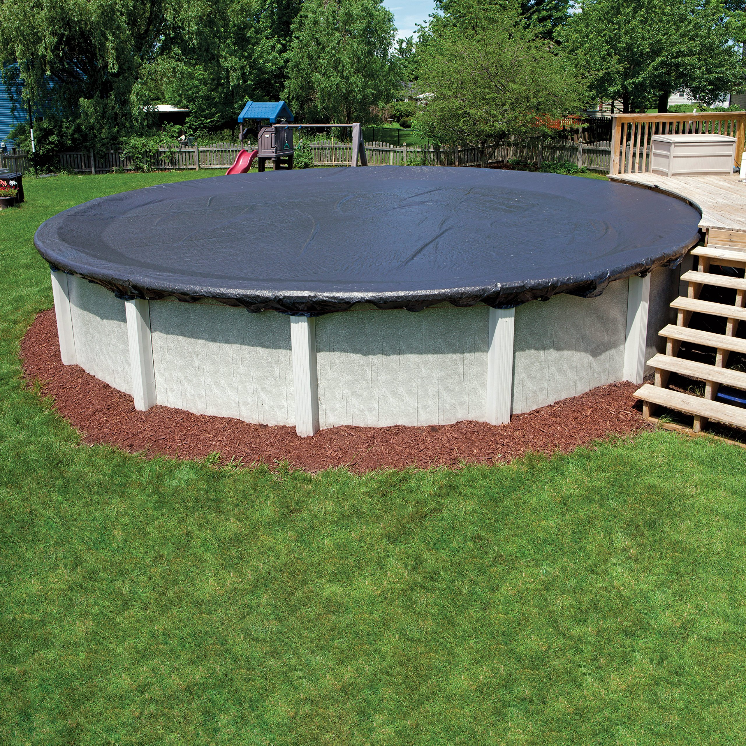 In The Swim 8-Year 30 Foot Round Pool Winter Cover for Above Ground Pools by In The Swim