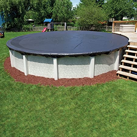 In The Swim 8 Year 33 Foot Round Pool Winter Cover for Above Ground Pools