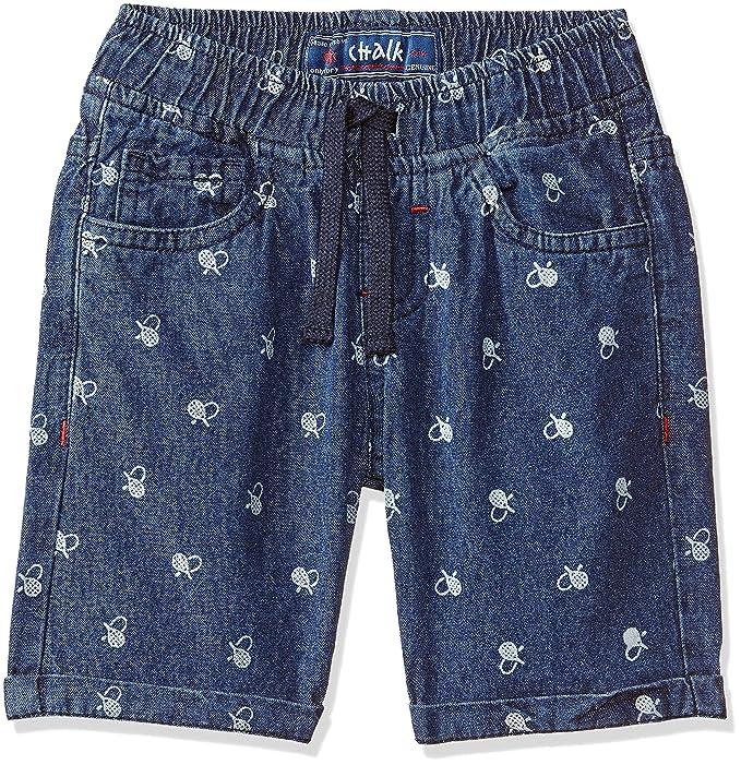 1ee78ca8c24 Chalk By Pantaloons Boys' Shorts (110043384_Medium Blue_3-4 Yrs ...