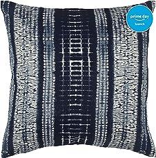 """Stone & Beam Shibori-Inspired Pillow, 17"""" x 17"""", Blue"""