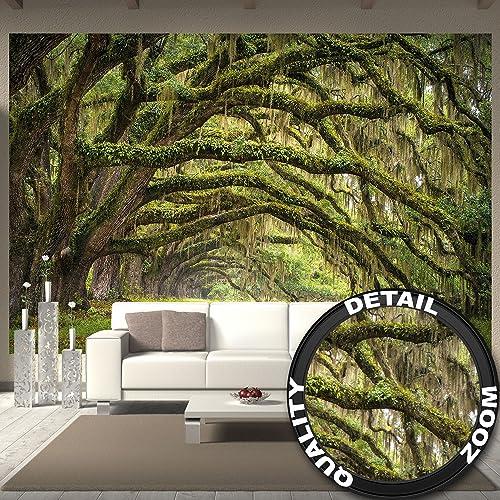 Wall Mural Nature Decoration Forest Landscape Summer Mystic Oak Oaks Avenue Quercus Fairy Tale