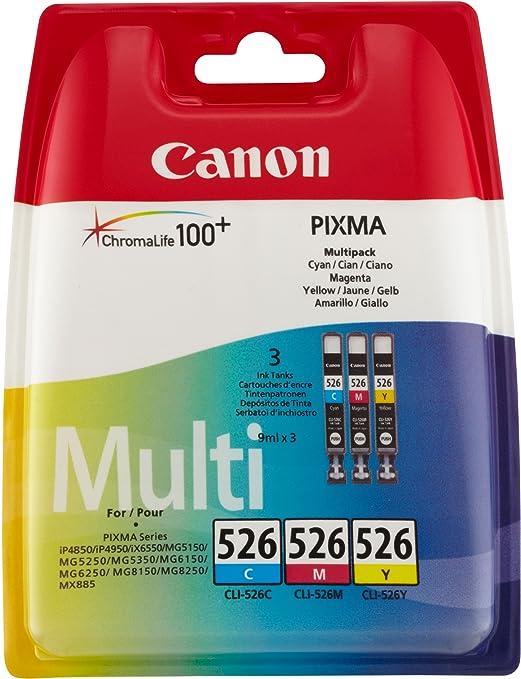 22 opinioni per Canon CLI-526 C/M/Y Cartuccia Inchiostro, Ciano/Magenta/Giallo