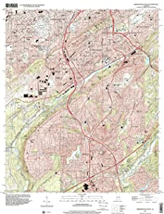 YellowMaps Birmingham South AL topo map, 1:24000 Scale, 7.5 X 7.5 Minute, Historical, 1997, Updated 2001, 26.9 x 22 in