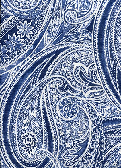 Ralph Lauren Veranda Paisley Blue Tablecloth, 60 By 104 Inch Oblong  Rectangular