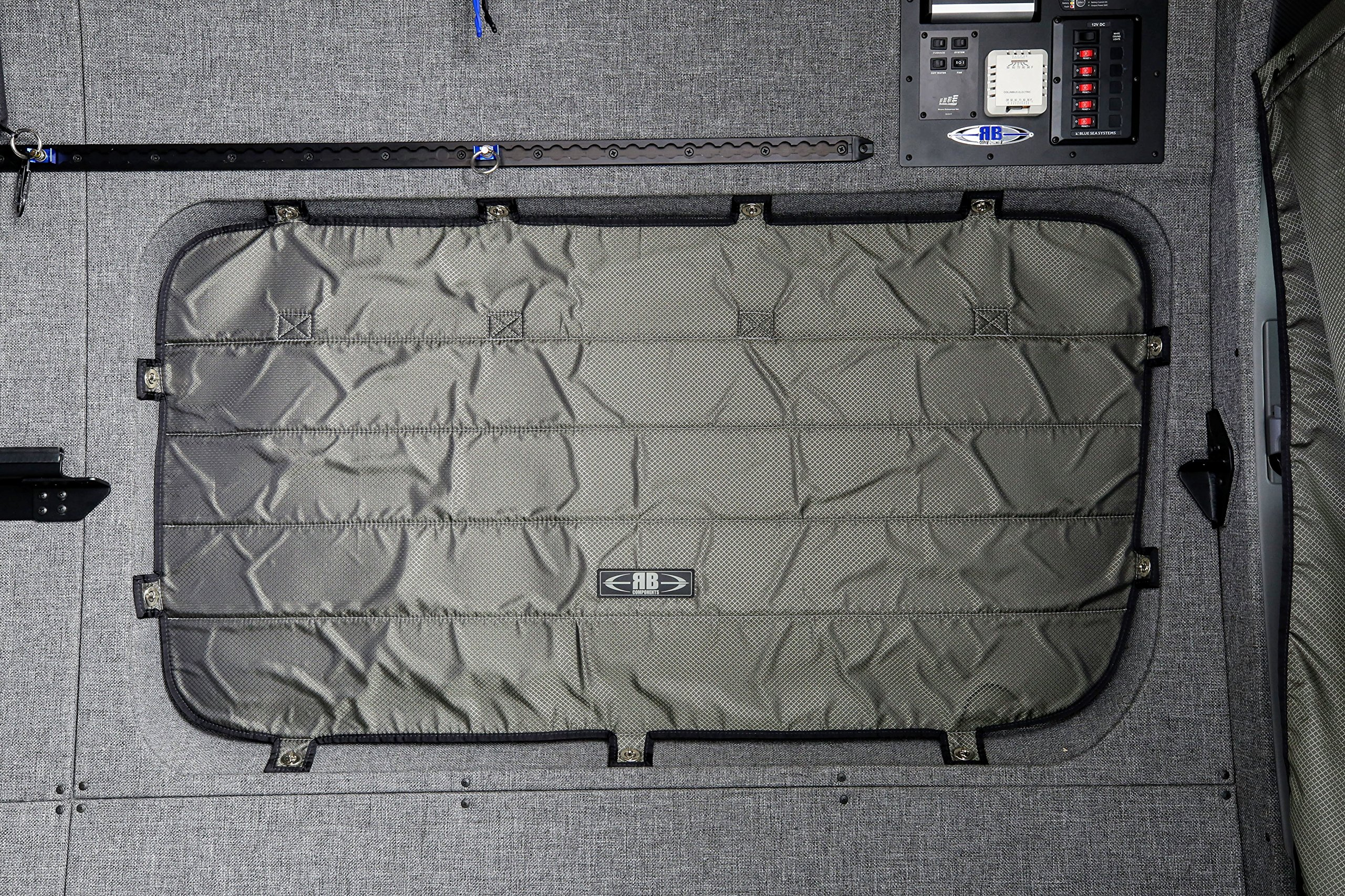 07+ Sprinter Van Driver's Side Galley Window Sun Shade/Privacy Cover, Inset by RB Components (Image #1)