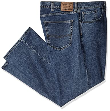 6f75361e911 Signature by Levi Strauss & Co Men's Big and Tall Relaxed Fit Jeans, Medium  Indigo