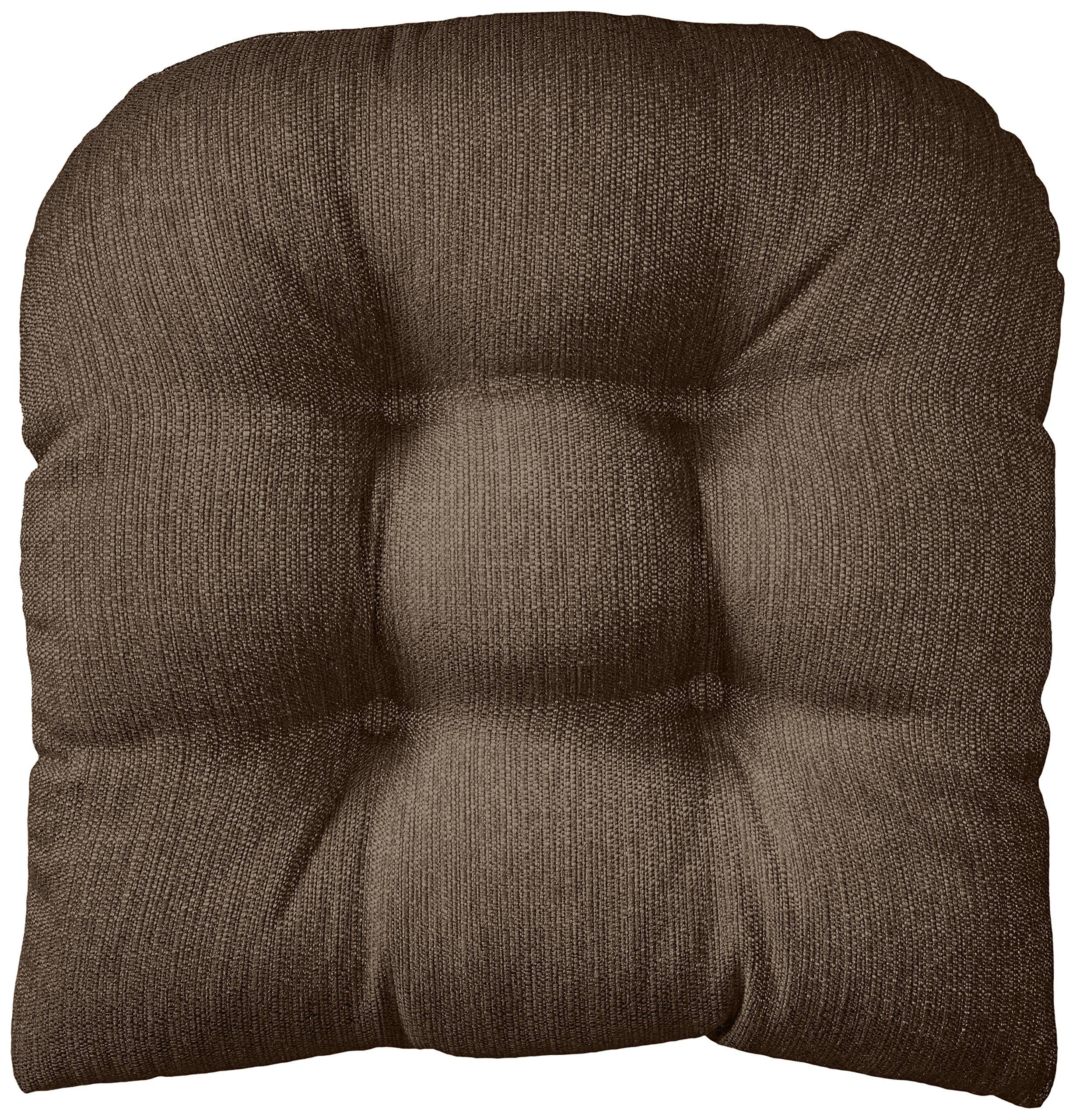 Klear Vu Gripper Non-Slip Omega Tufted Universal Chair Cushion, 17'' x 17'', Chestnut