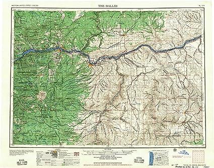 Amazon Com Yellowmaps The Dalles Or Topo Map 1 250000 Scale 1 X